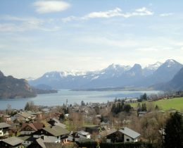 St Wolfgang Wolfgangsee Oostenrijk Bergen Meer