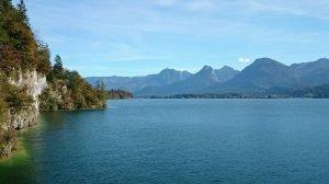 Wolfgangsee Bergen Meer Panorama
